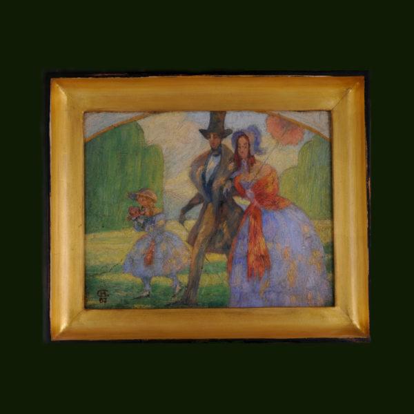 Gemälde, signiert und datiert 1907