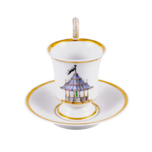 KPM porcelain cup and saucer 19th century