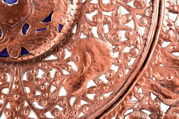 Plato de cobre - España, siglo XVI - morisco