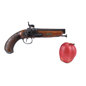 """Percussion pistol Spain, dated """"1860""""."""