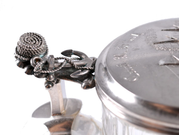 The lid made from silver, stamped Riga